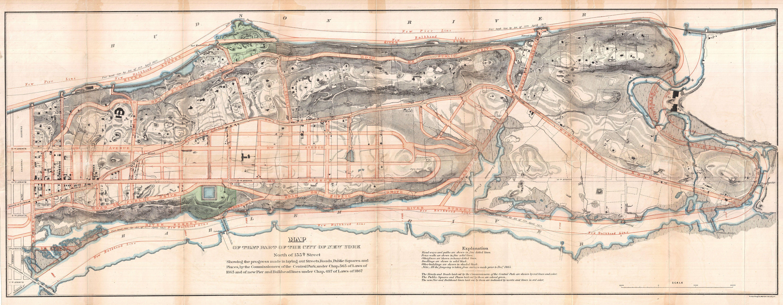 Street Map Of Manhattan New York.File 1868 Knapp Map Of Northern Manhattan New York City Harlem