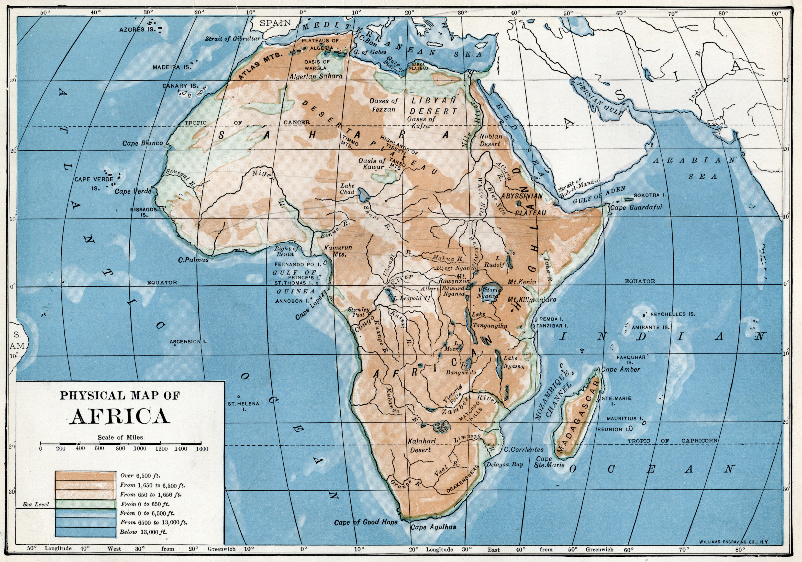 Map Africa File:1916 Africa physical map.png   Wikimedia Commons