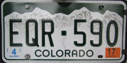Vehicle registration plates of Colorado - Wikipedia