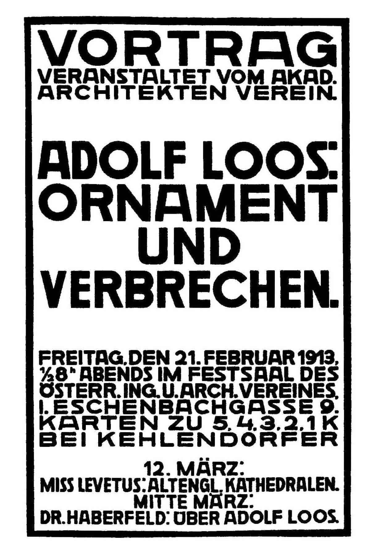 ornament is crime modernist architecture pdf