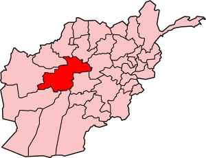 Map showing Ghowr province in Afghanistan