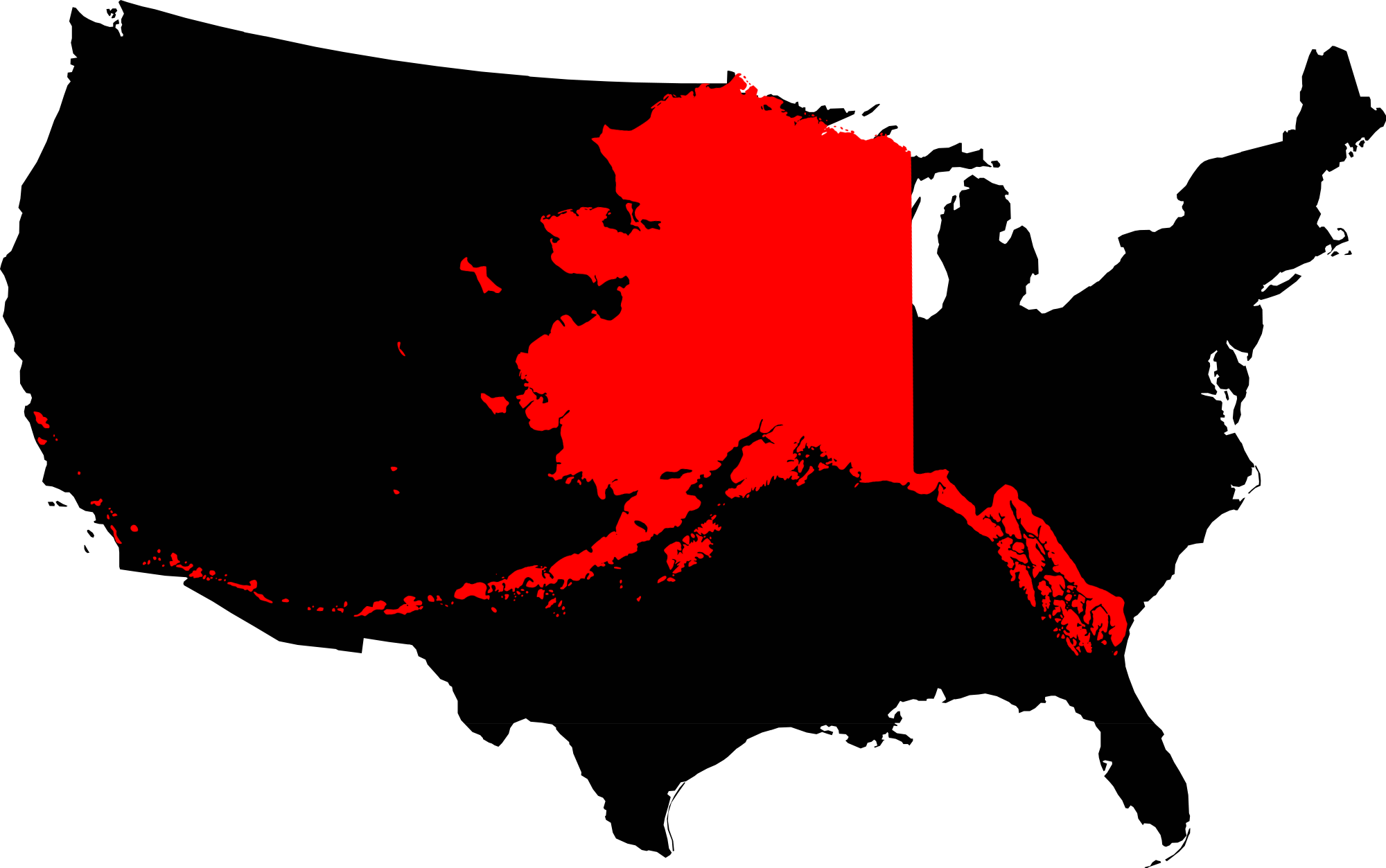 FileAlaska Compared To The United States Mappng Wikimedia Commons - Us map and alaska
