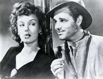 Ann Savage and Tom Neal in the 1945 film 'Detour'
