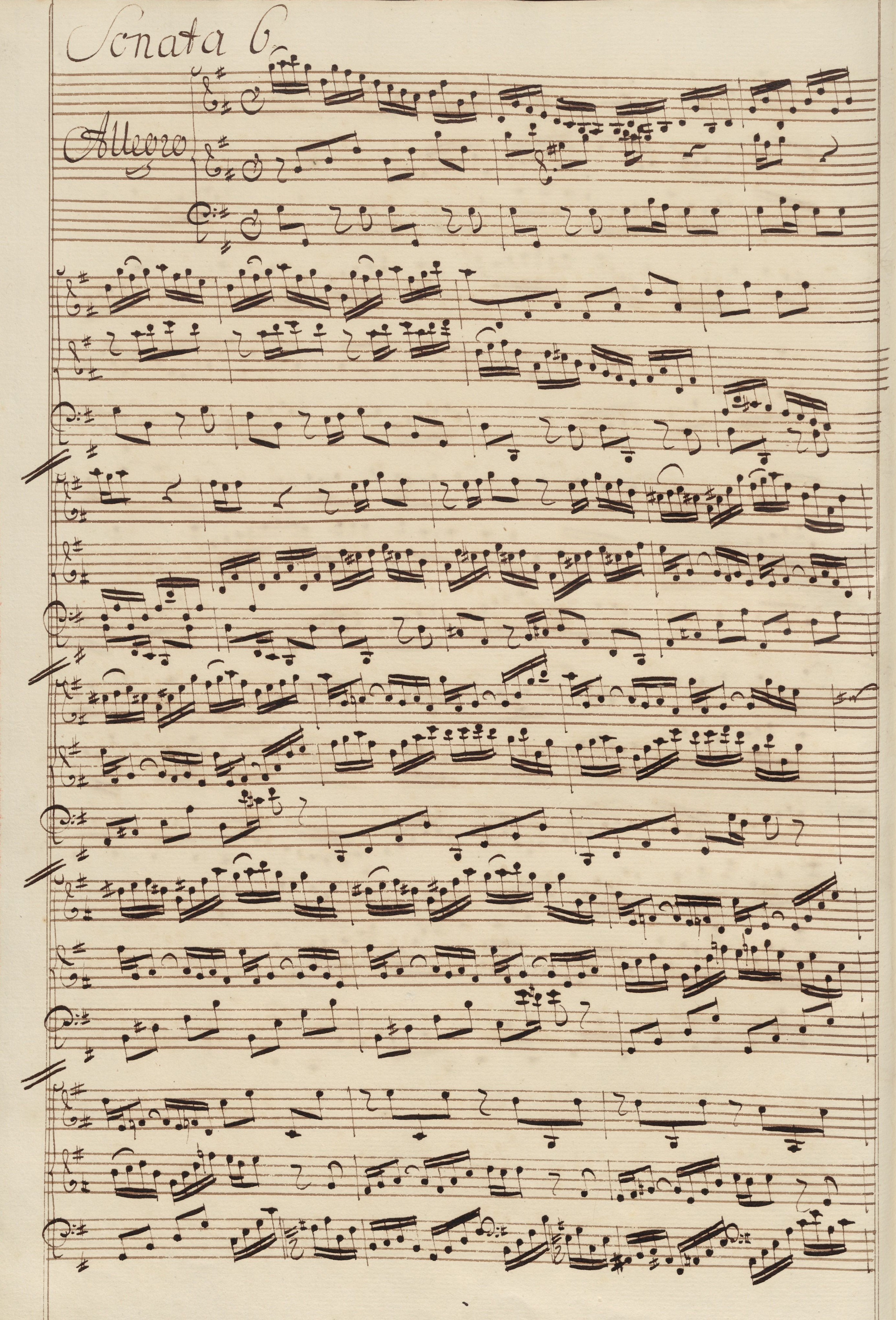 59afa45a565613 Six Sonatas for Violin and Harpsichord