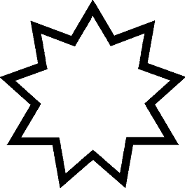 A symbol for the Bahai faith