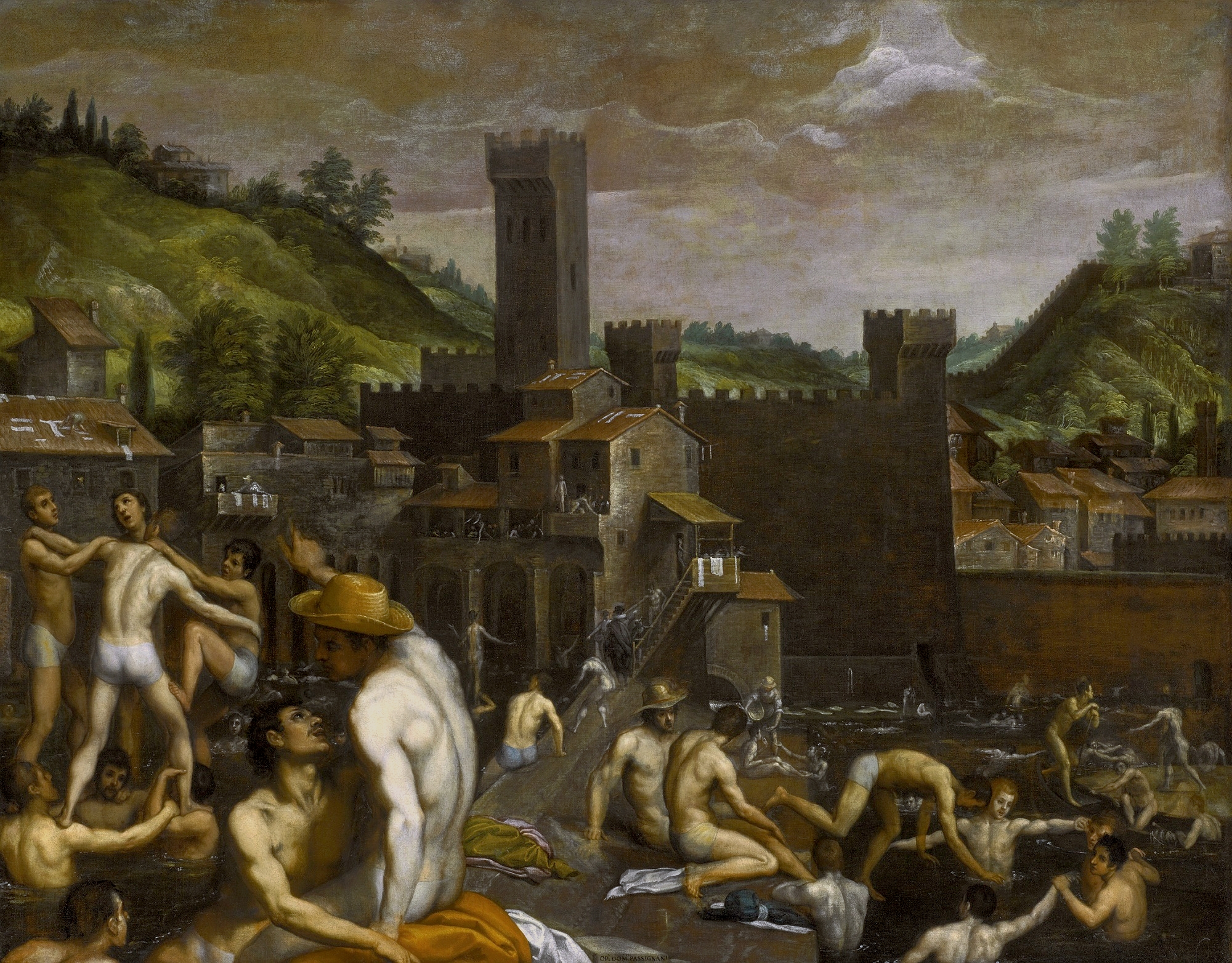 Domenico Cresti: Bathers at San Niccolo