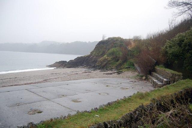 Beach at Trebah - geograph.org.uk - 1266750