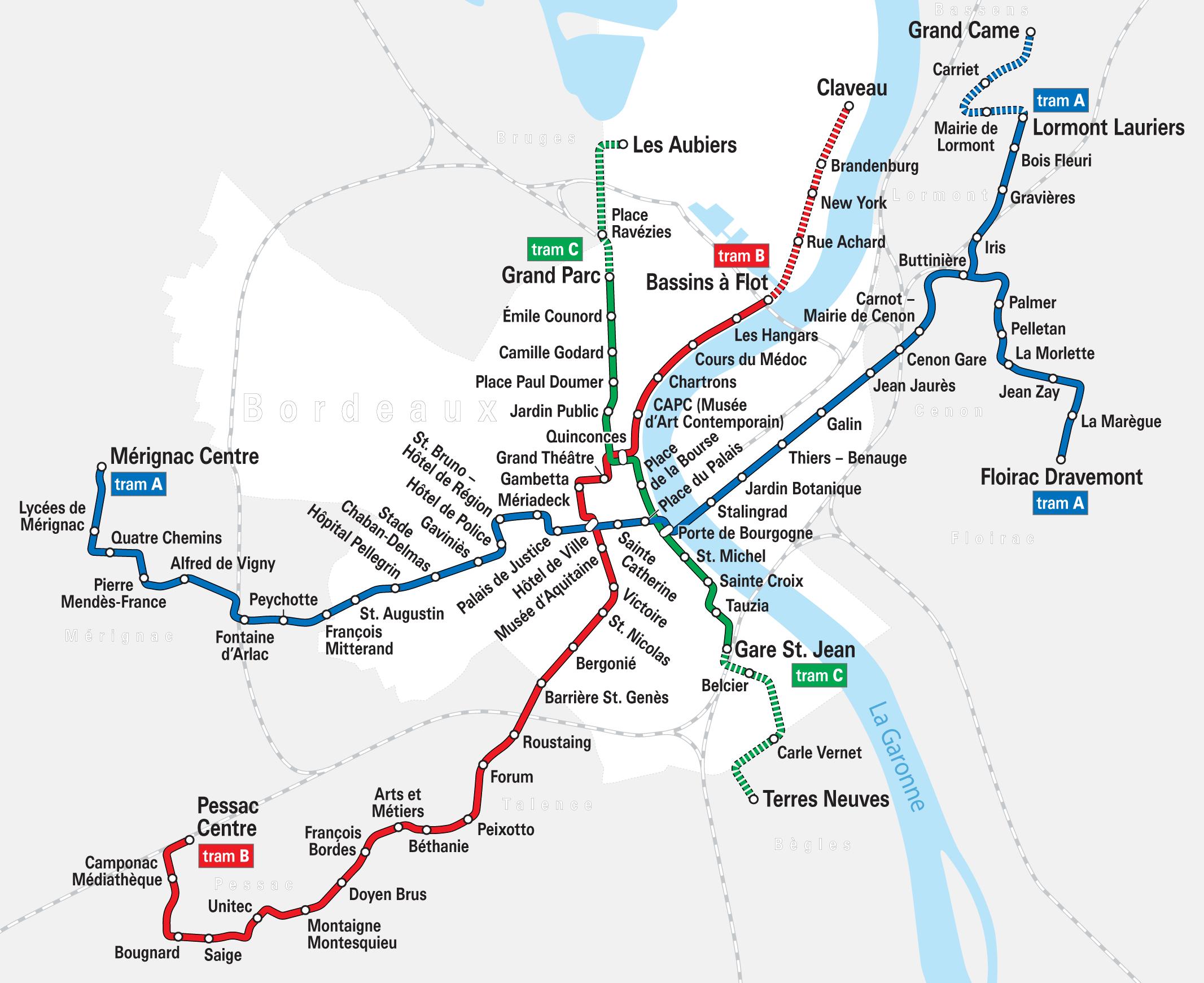 Carte De Bordeaux Plan Touristique Bordeaux