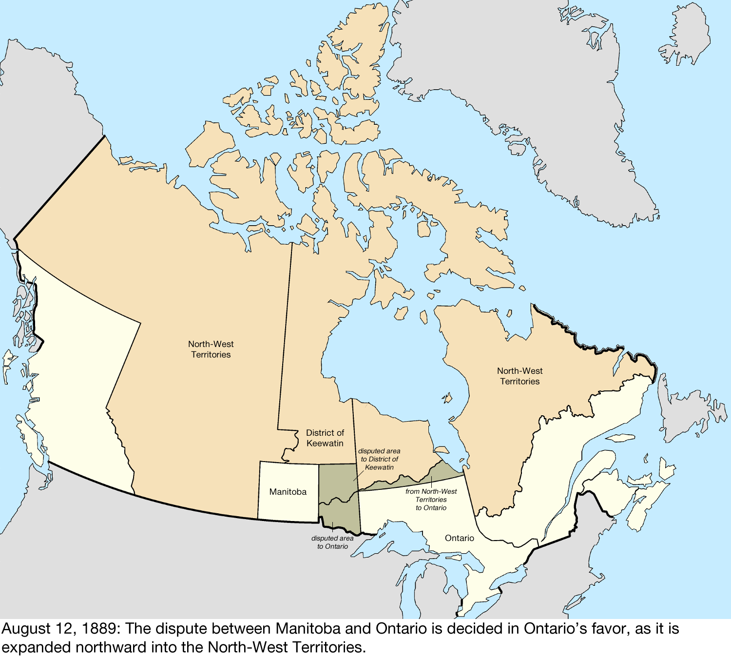map of the change to canada on august 12 1889