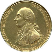 Coin commemorating Cornwallis' role in negotiating the Treaty of Amiens, 1802