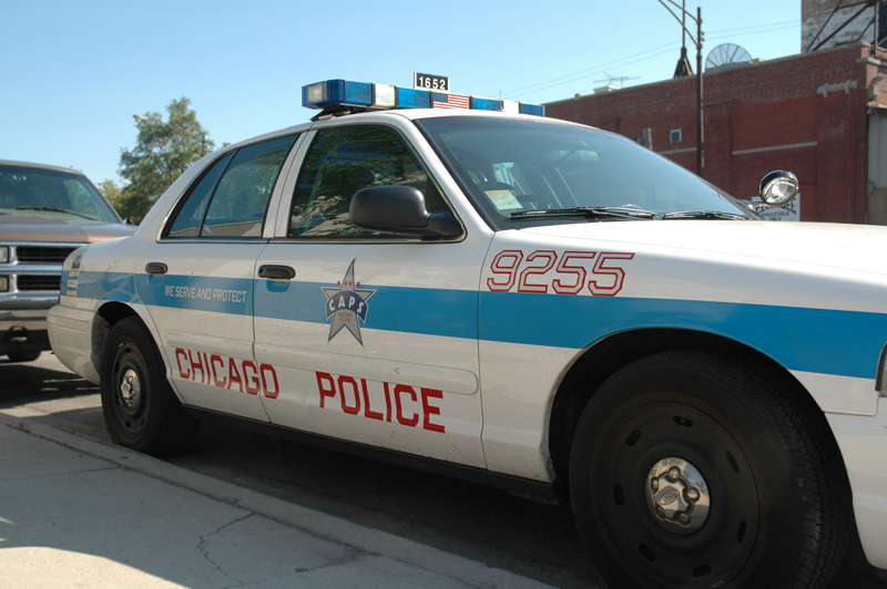 Chicago police car horiz