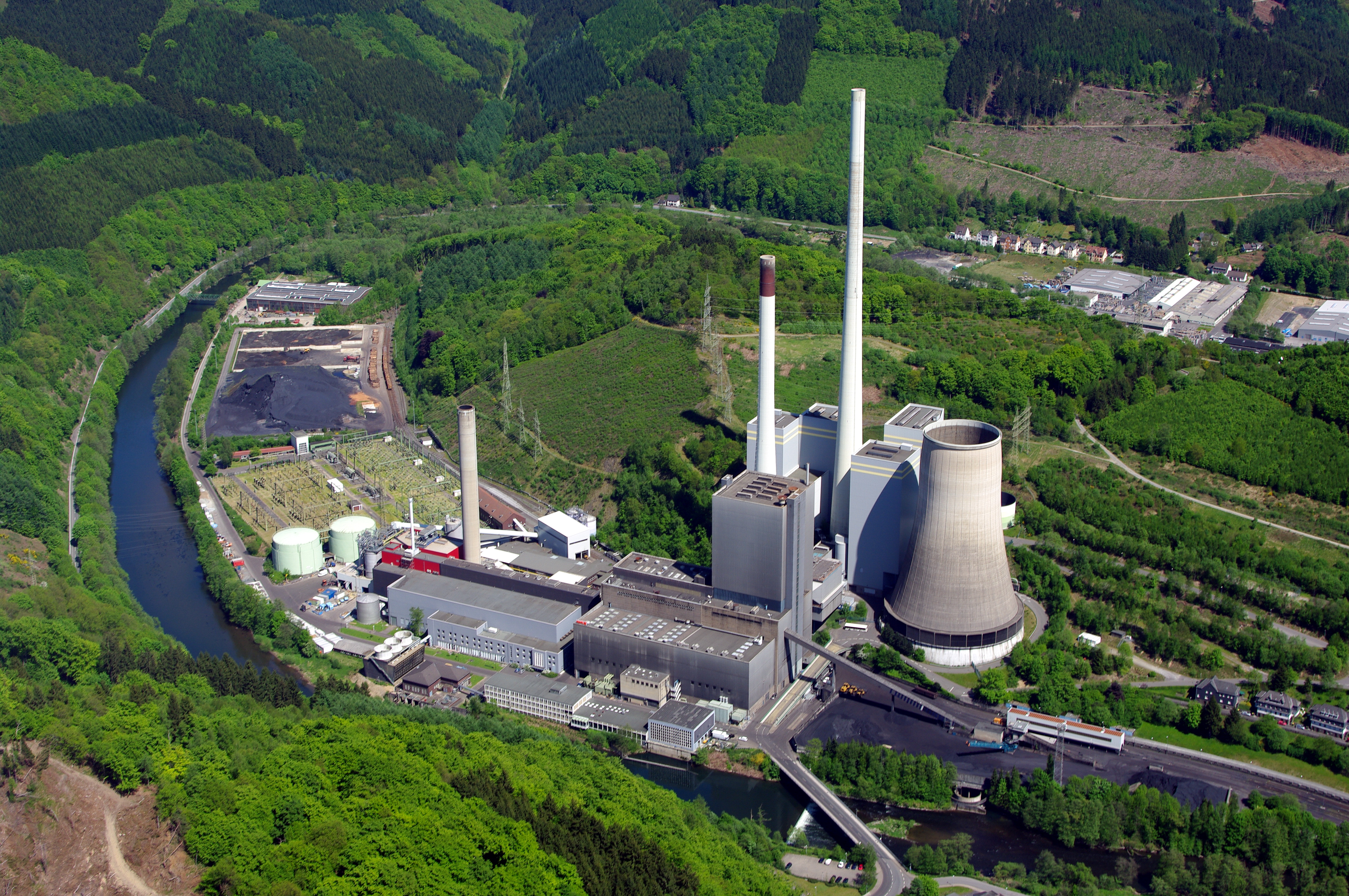 File Coal fired power station Werdohl Elverlingsen Germany