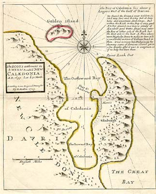 Map of the ill-fated Darien colony