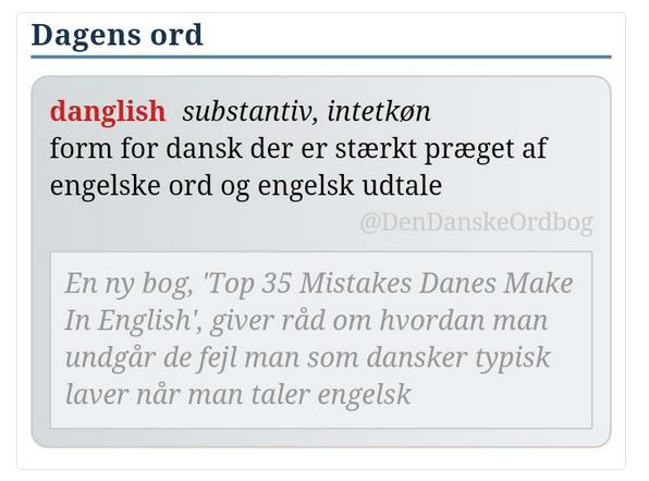 gamle danske udtryk Dansk engelske ord