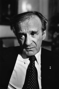 Elie Wiesel %281987%29 by Erling Mandelmann   2 What are you silent about? What needs to be said?