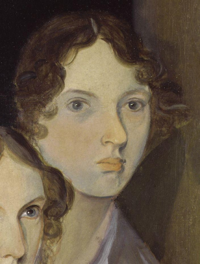 "The only undisputed portrait of Brontë, from a group portrait by her brother [[Branwell Brontë|Branwell]]<ref name=""Portrait"">{{cite web