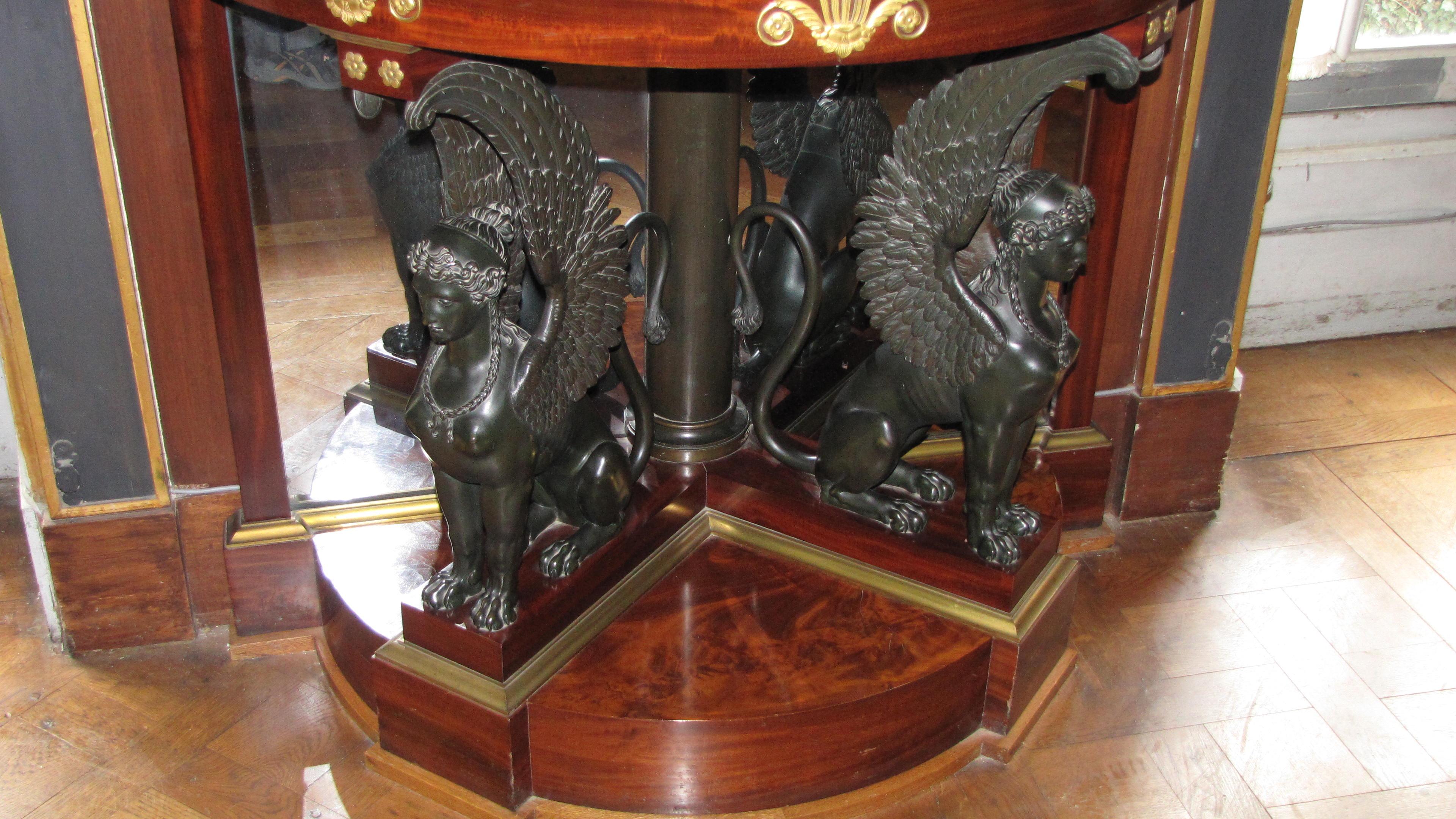File Empire Furniture With Sphinxes Chateau De Malmaison Jpg