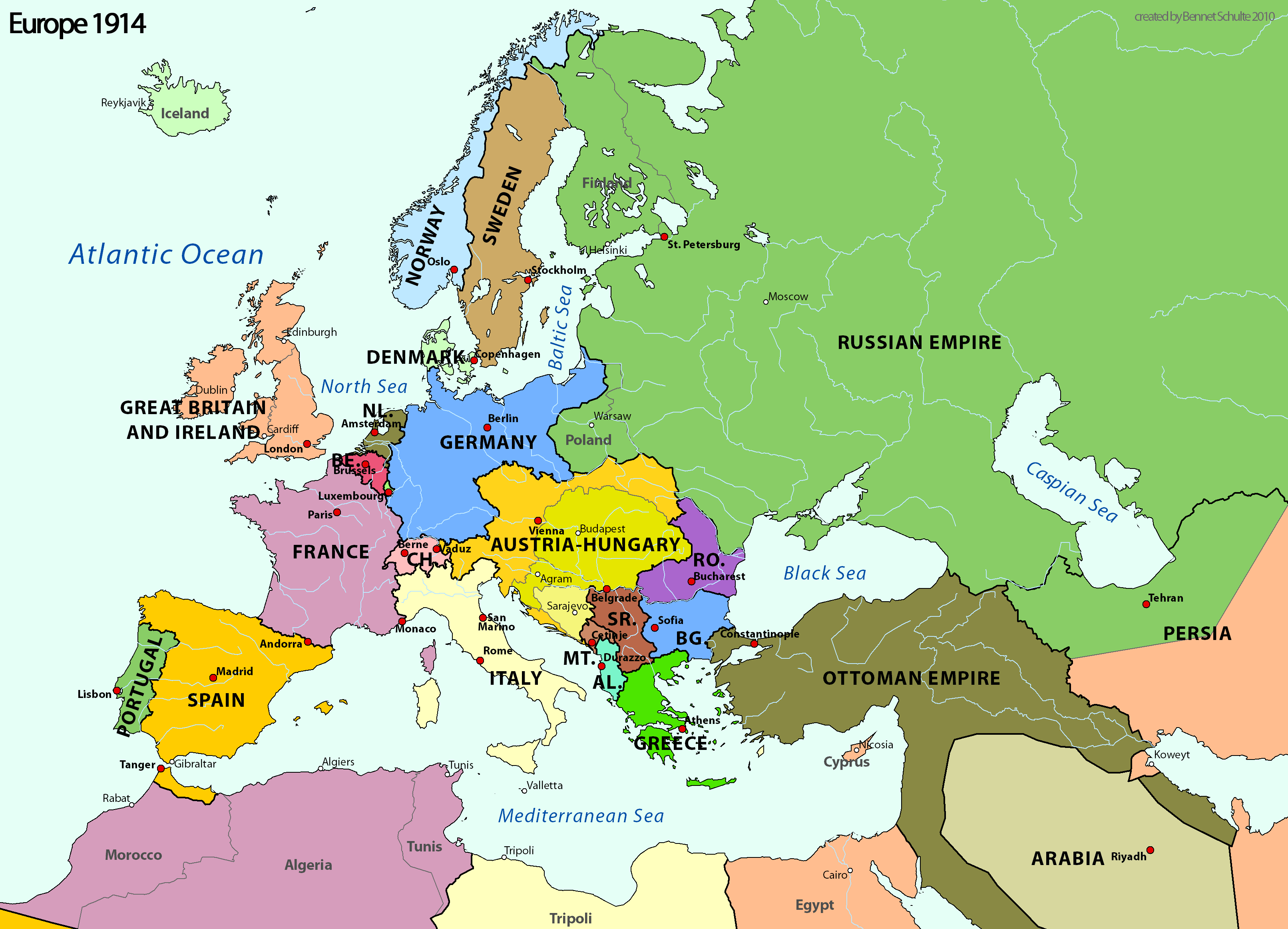 Central Powers Wikipedia - Europe world war1 map 1914