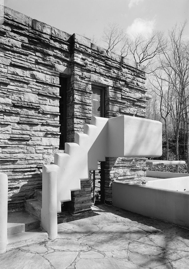 File Fallingwater Stairs For Dressing Room To Terrace