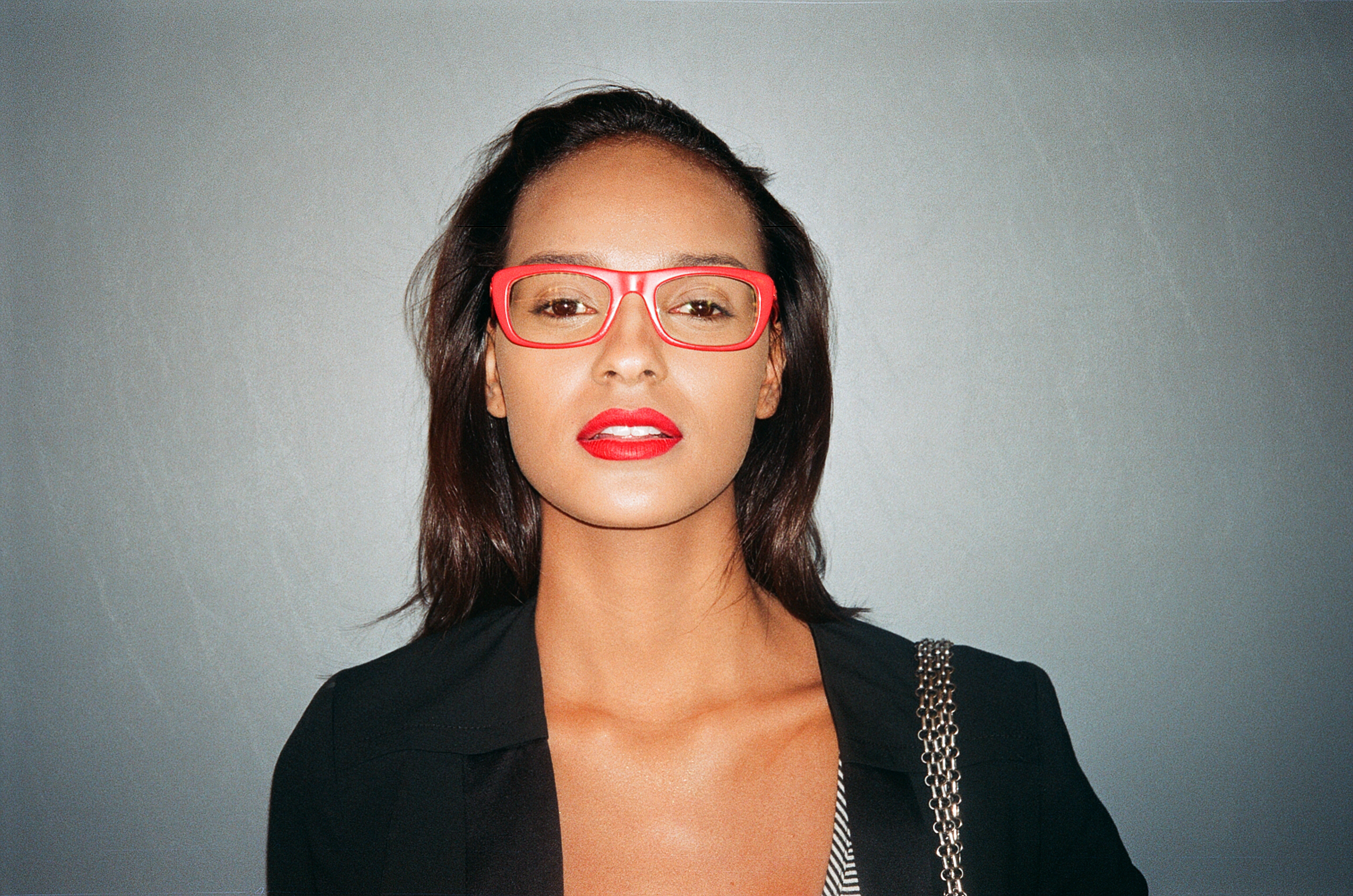 Asian Red Glasses Hd Blow