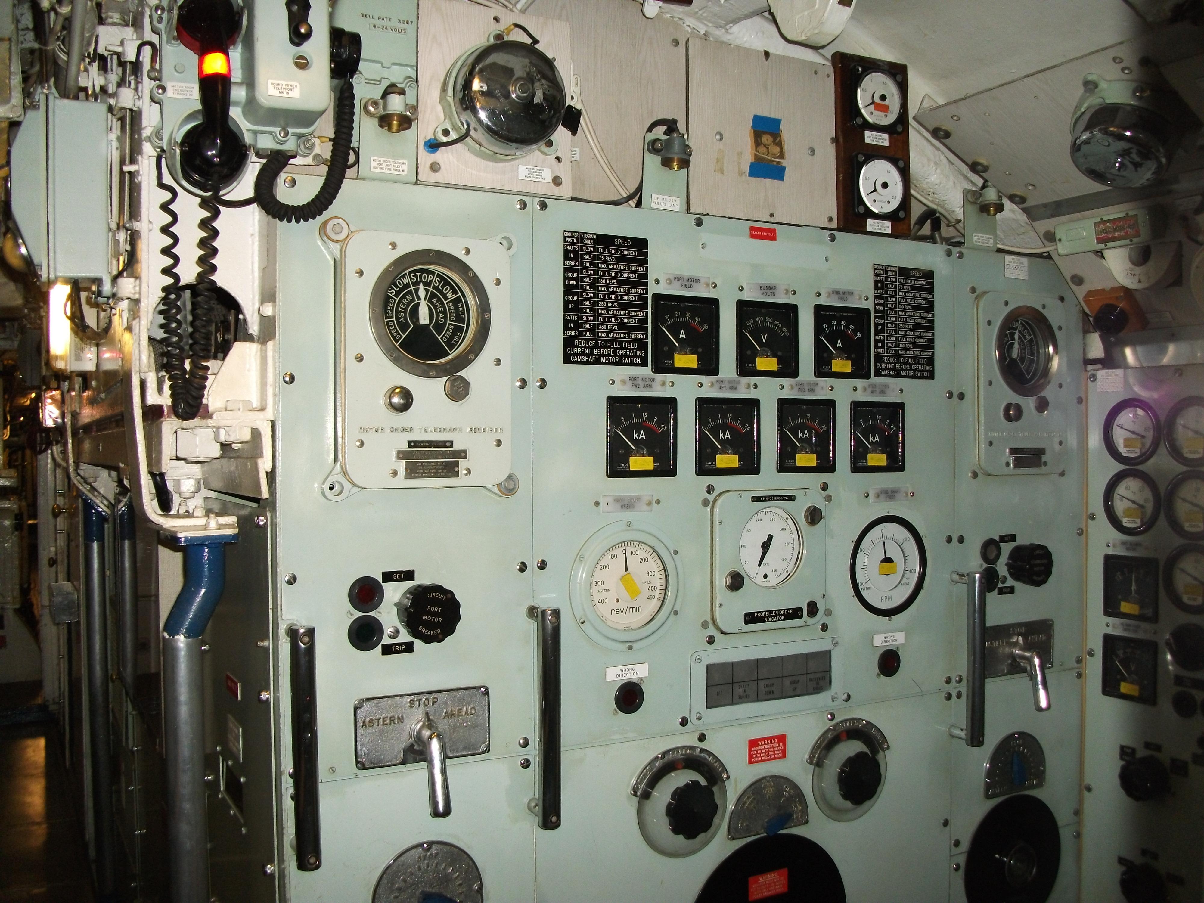 File Hms Ocelot 1962 Propellor Motor Control Panel Jpg