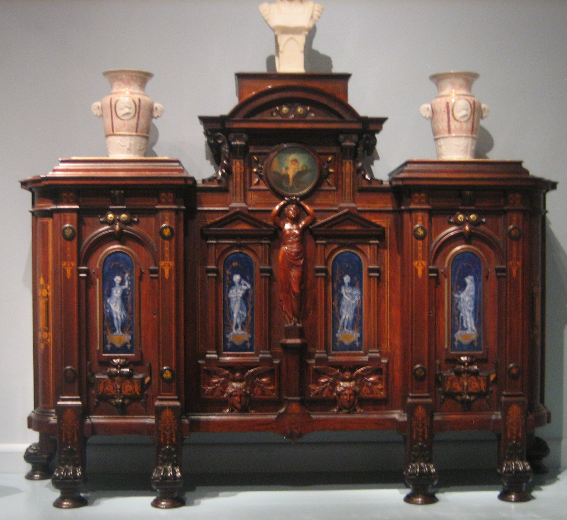 File:Herter Brothers cabinet, c. 1869, National Trust for Historic ...