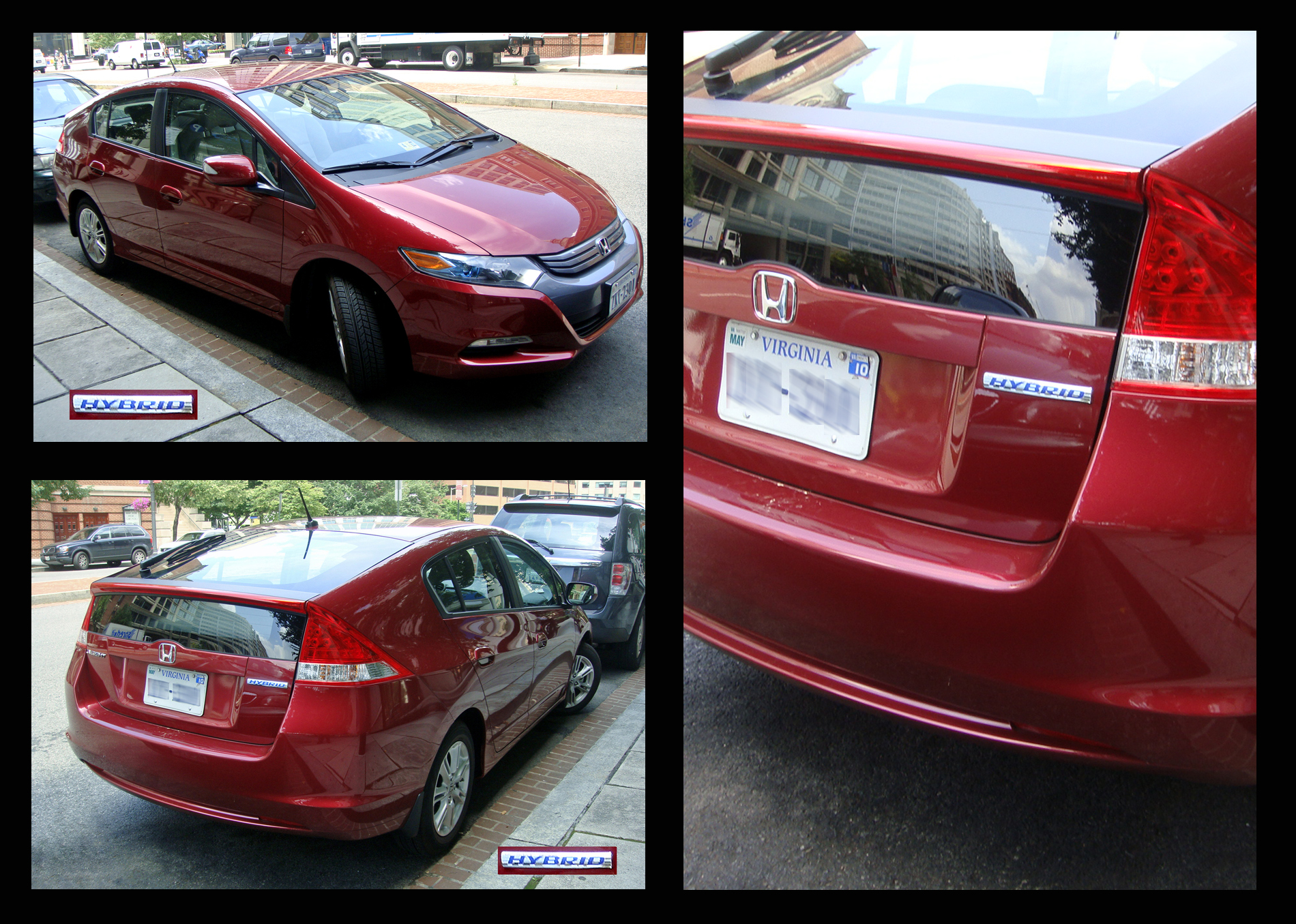 U S Honda Insight Shown Front Rear And The Hybrid Badging