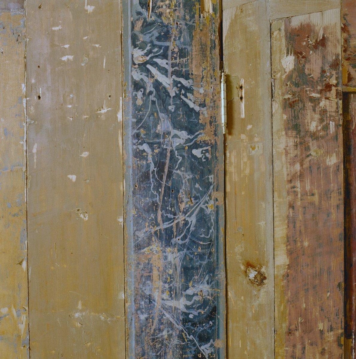 File interieur woonkamer houten wand detail zaandam 20002195 wikimedia commons - Kleden houten wand ...