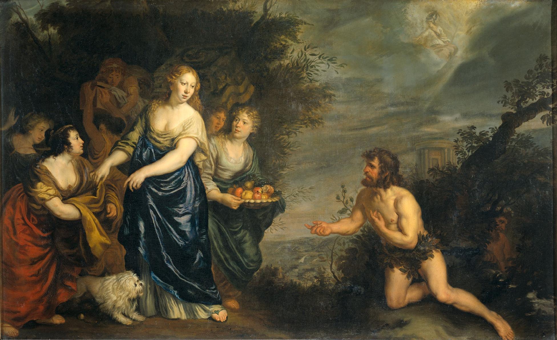 Odysseus and Nausicaa (Sandrart)