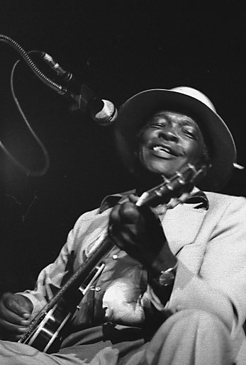 Hooker playing Massey Hall, Toronto. Photo: Jean-Luc Ourlin John Lee Hooker two.jpg