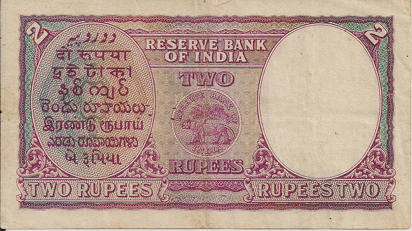 Rupee Note Size File:kgvi Rupees 2 Note