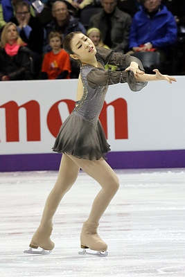 Kim performing her free skate to Les Misérables at the 2013 World Championships.