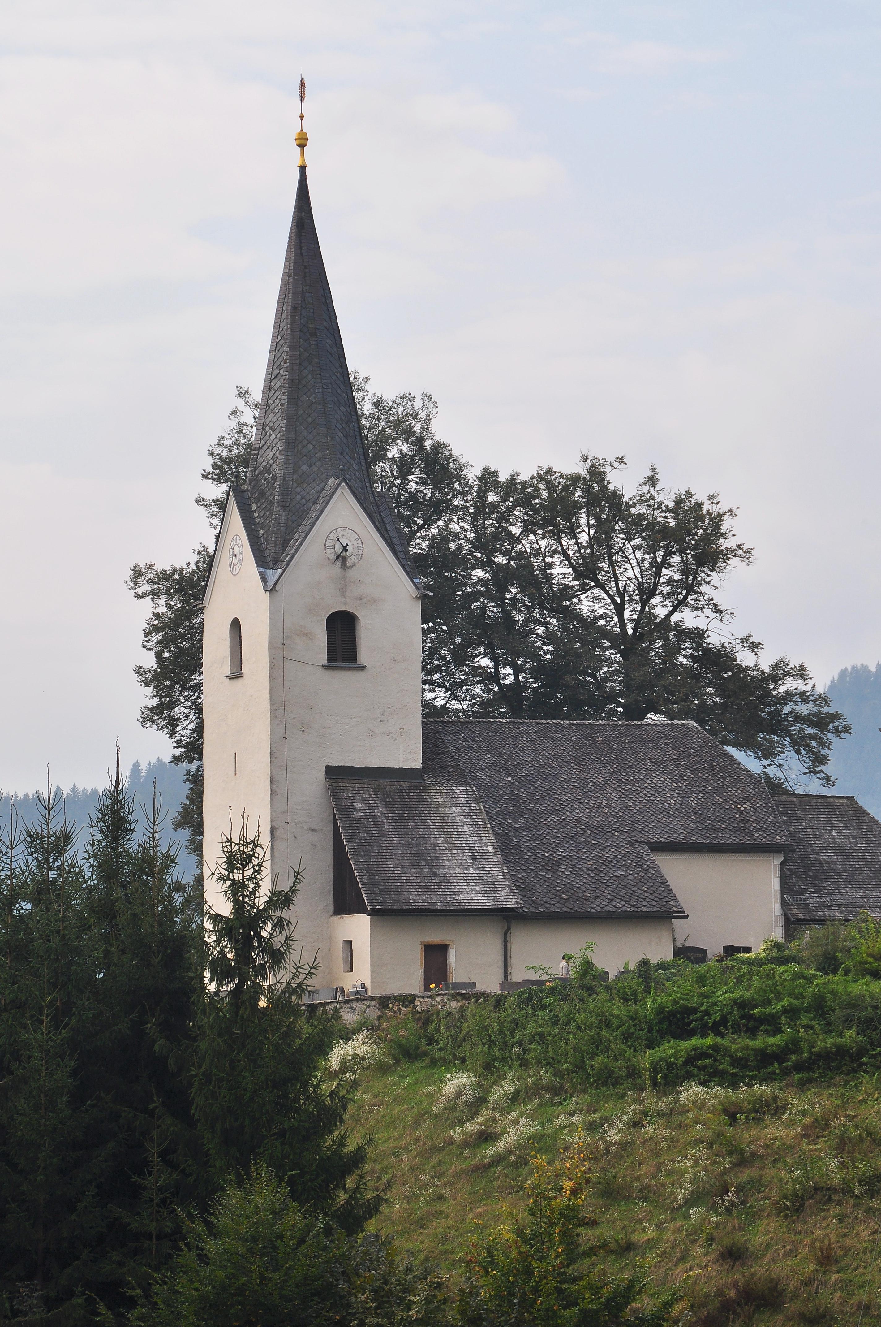 Datei:Klagenfurt Wlfnitz Pfarrkirche hl Johannes der Tufer