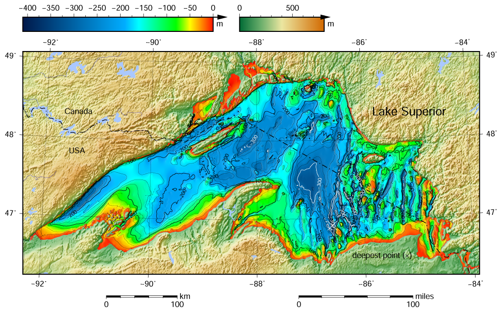 FileLake Superior Bathymetry Mappng Wikimedia Commons - Lake huron depth map