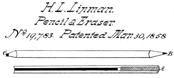 Lápiz de Lipman 1858