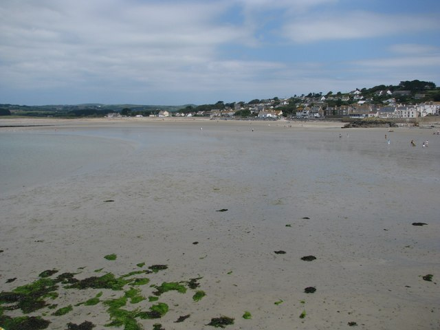 Low tide at Marazion - geograph.org.uk - 1389093