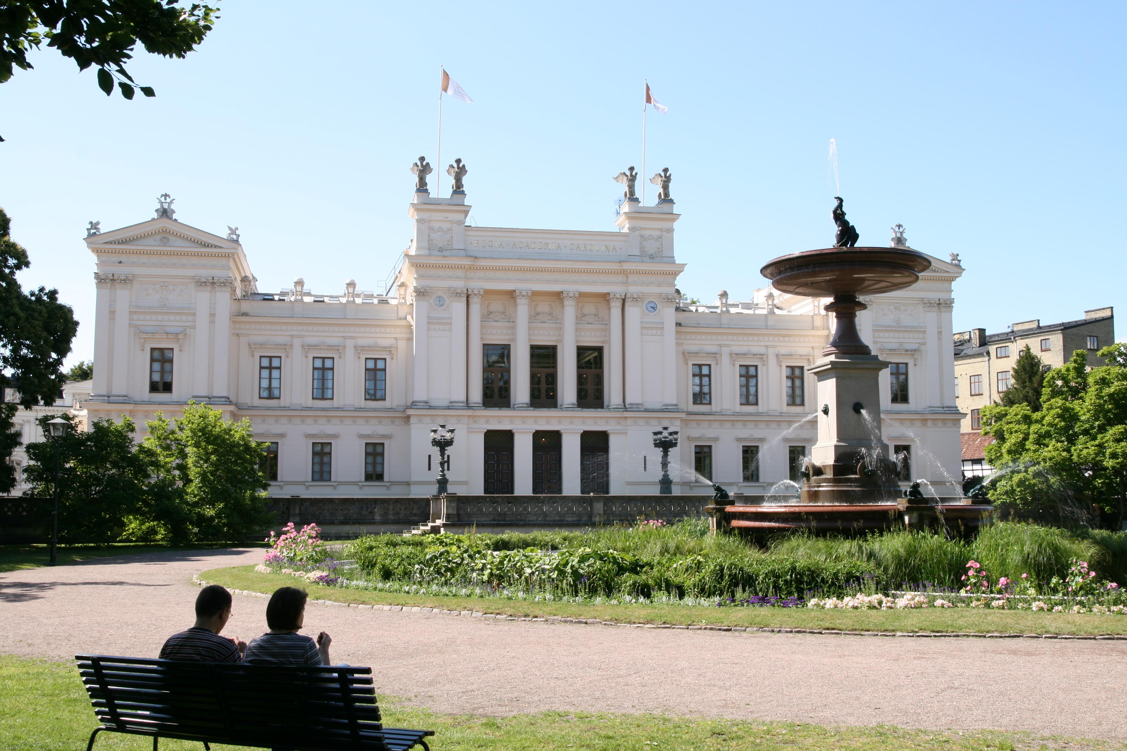 English: Lund University main building in Lund...