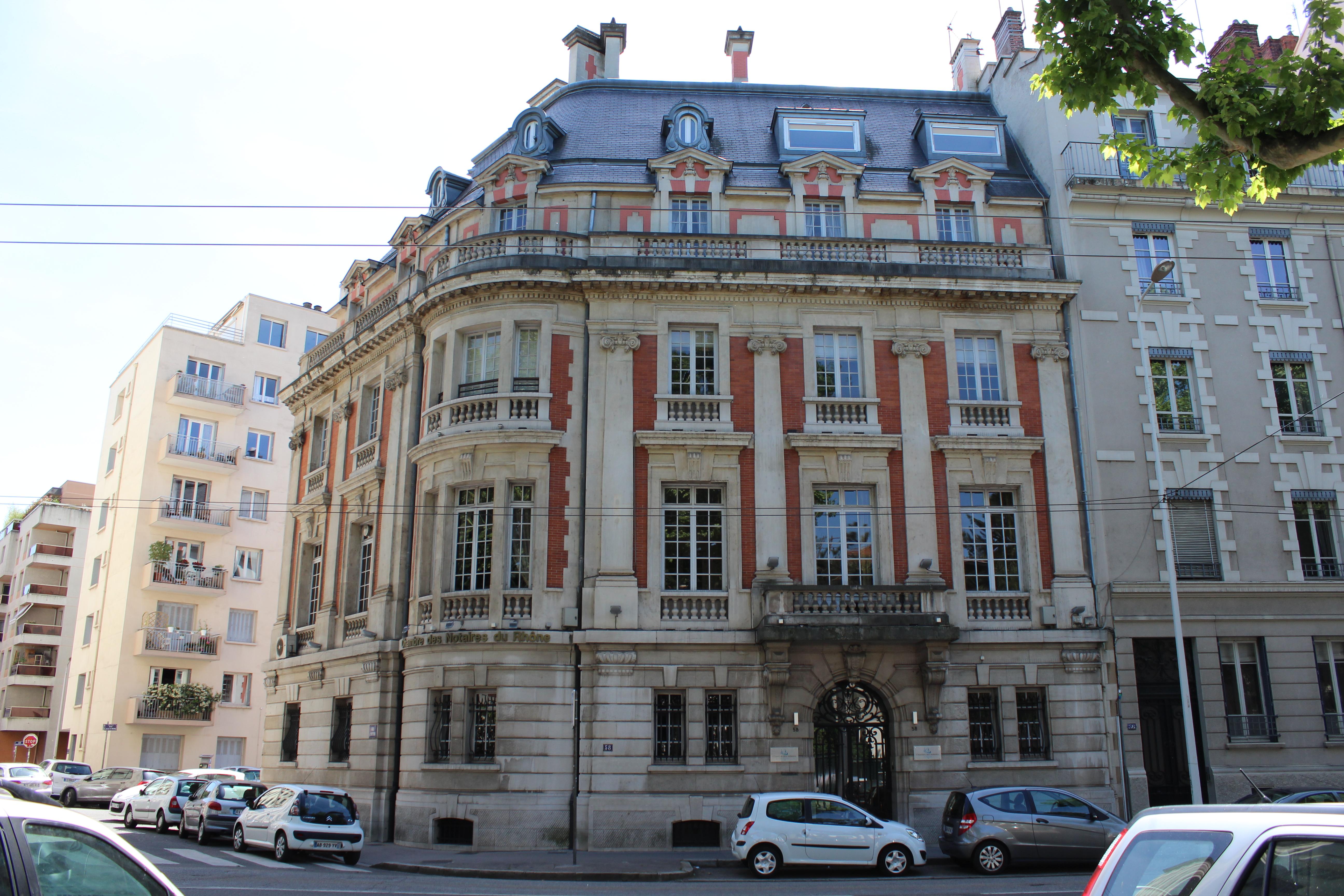 File Lyon 06 Chambre des notaires JPG Wikimedia mons
