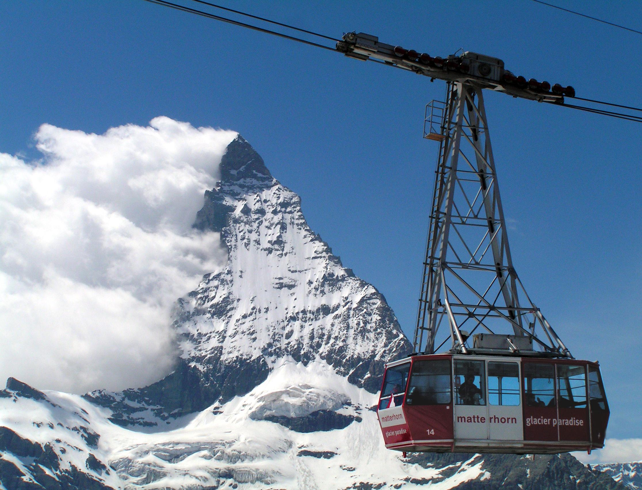 ''Gondel'' am Matterhorn