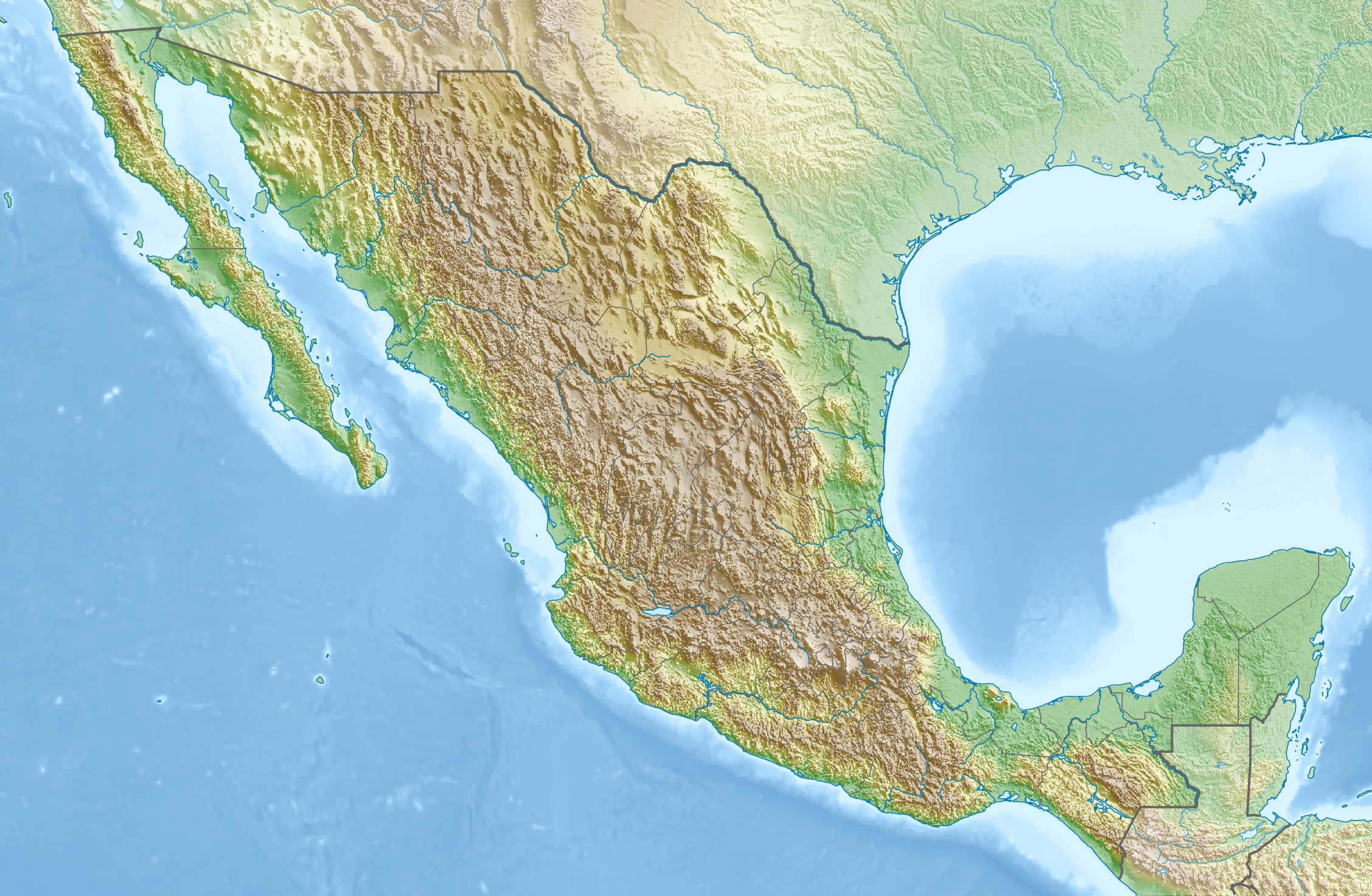 File Mexico Relief Location Map Jpg Wikipedia