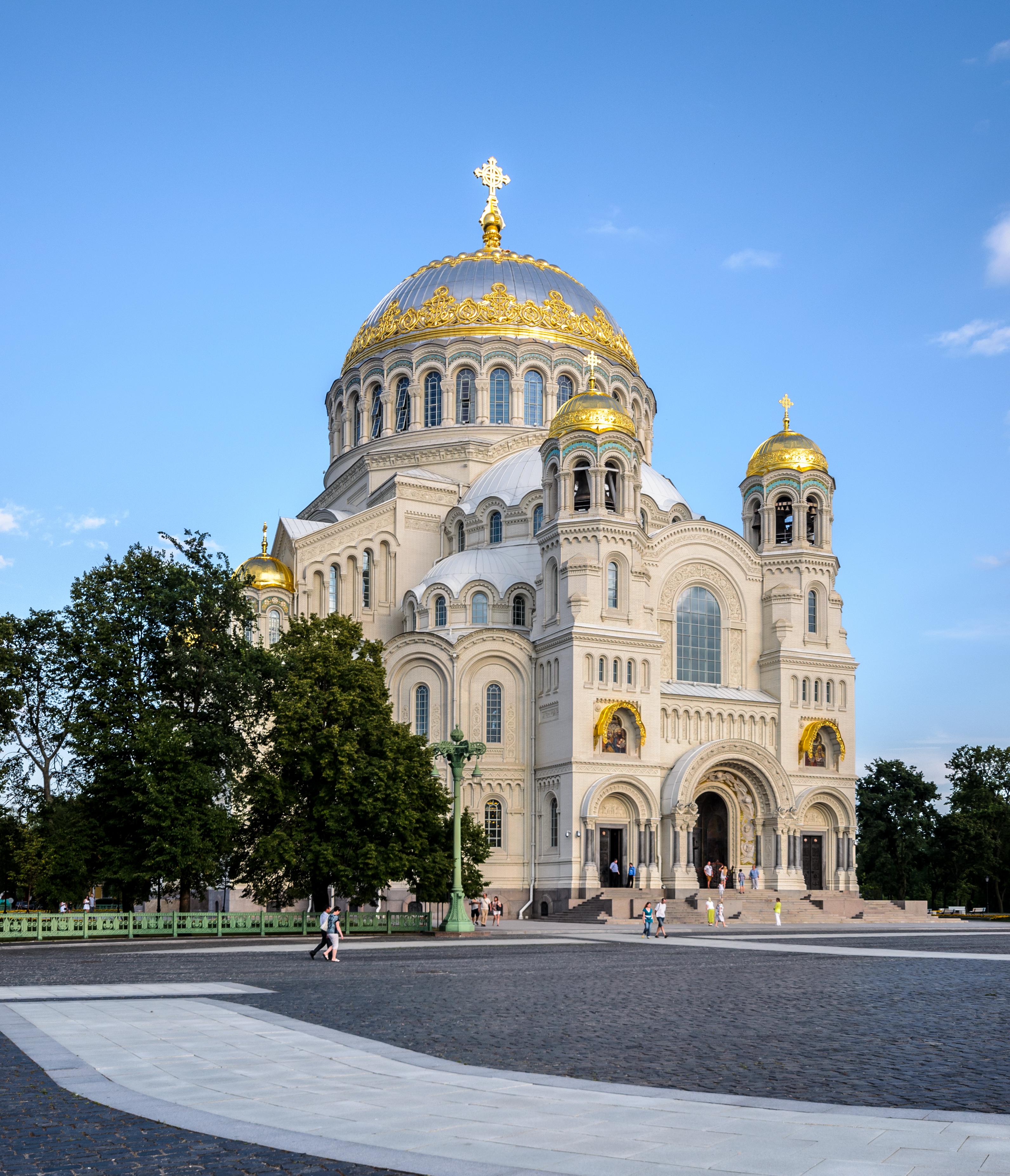 Ο ναός του Αγίου Νικολάου στο νησάκι/αυτοδιοικητική περιοχή Κροστάνδη της Αγίας Πετρούπολης (πηγή: Wikimedia)