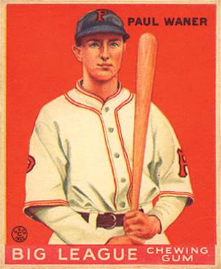 English: 1933 Goudey baseball card of Paul Wan...
