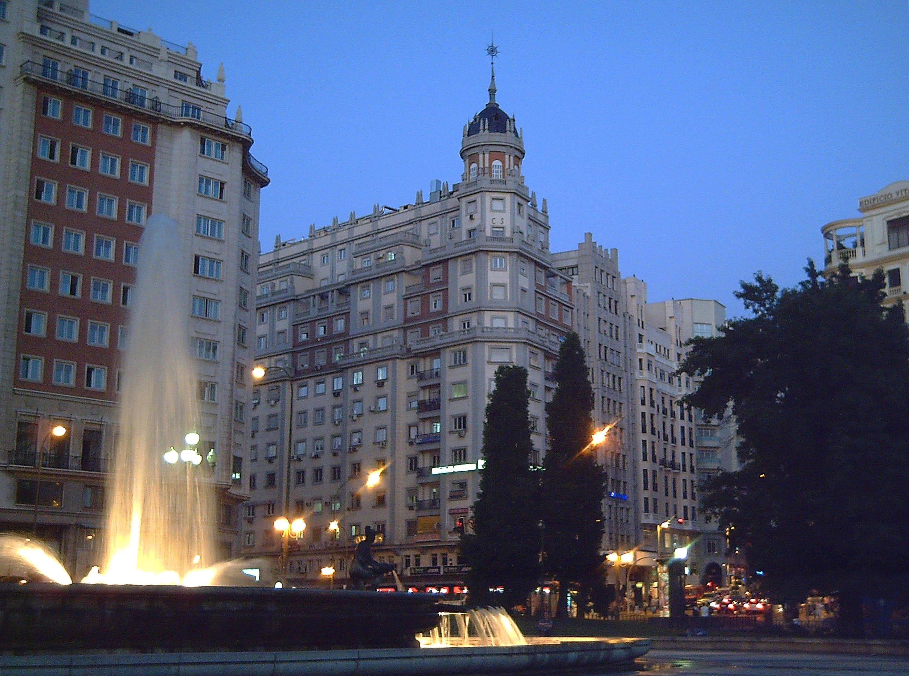 Madrid Spain  City new picture : Plaza de España Madrid 08 Wikimedia Commons