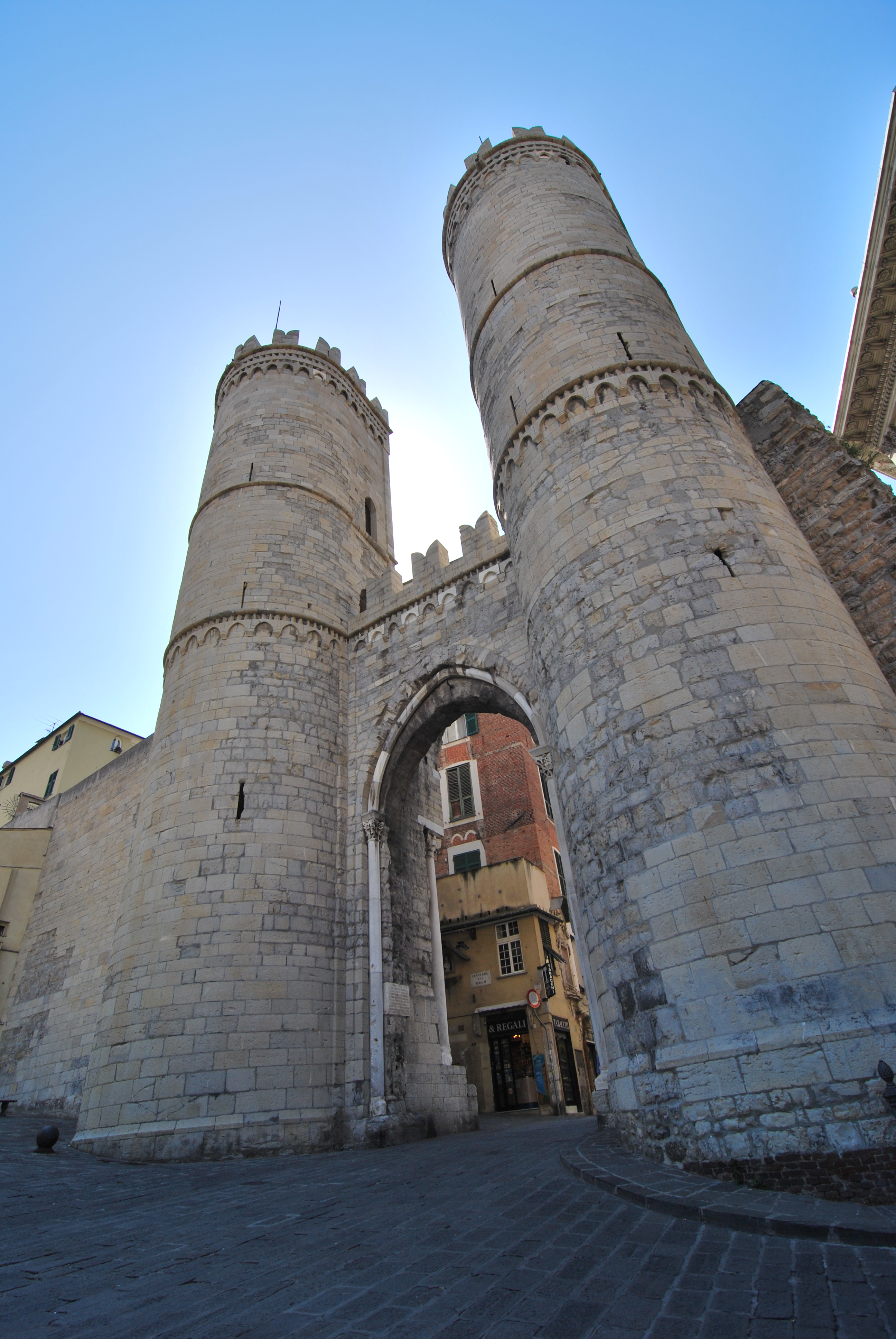 Genoa. Medieval gate.