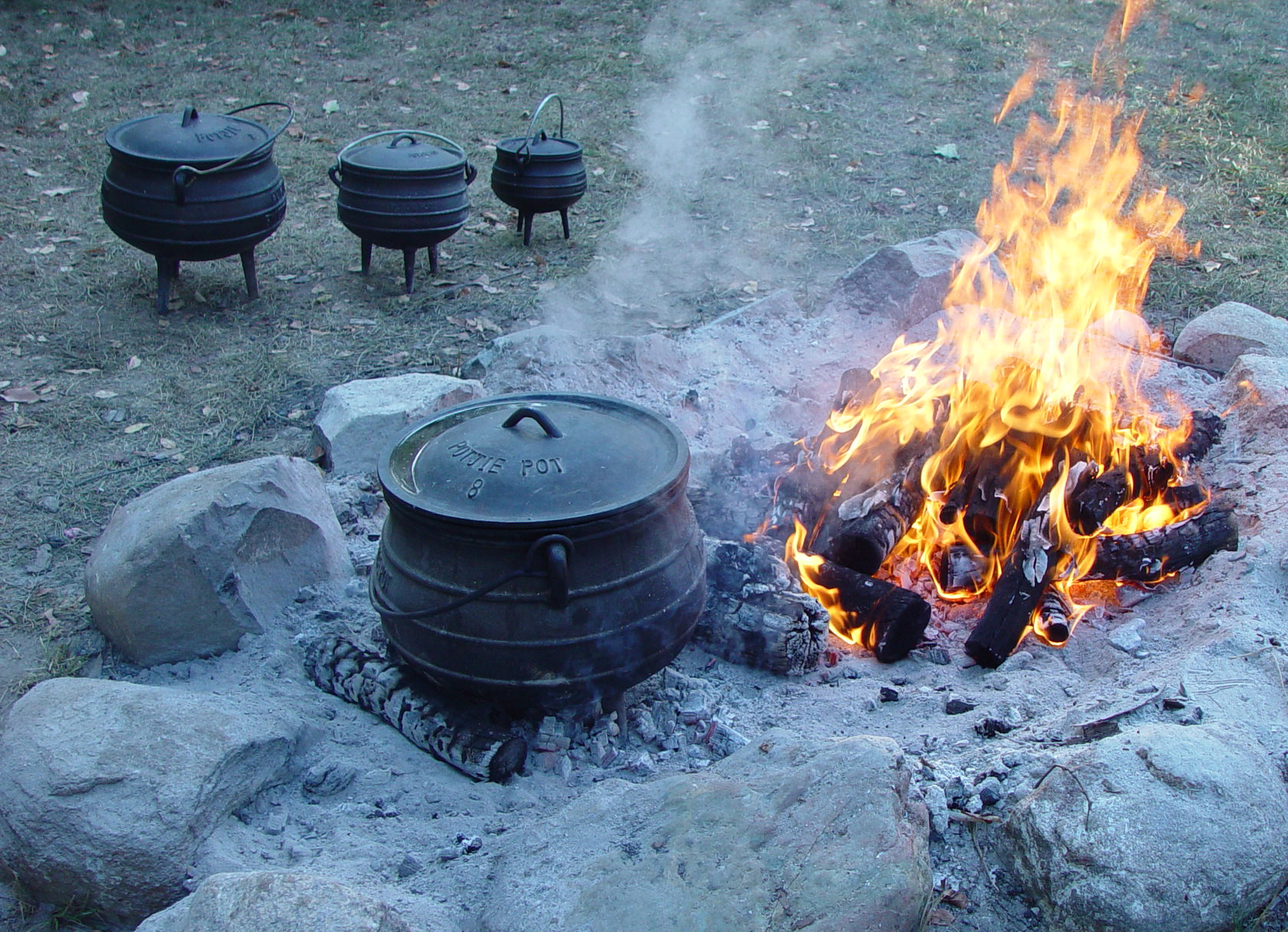 A Pot beside A Fire