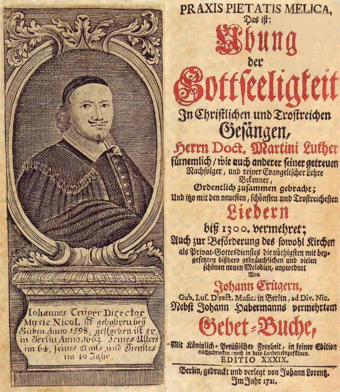 Paul Gerhardt, Praxis Pietatis Melica – Das ist Übung der Gottseligkeit in christlichen und trostreichen Gesängen, 1653, Titelblatt
