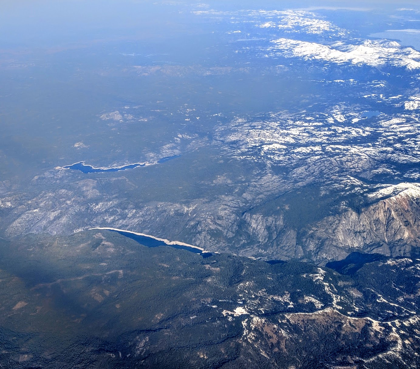 The Salt Springs Reservoir (below), Lower Bear River Reservoir (above  Left), And Bear River Reservoir (above Center) Are Visible In Aerial View  From The ...
