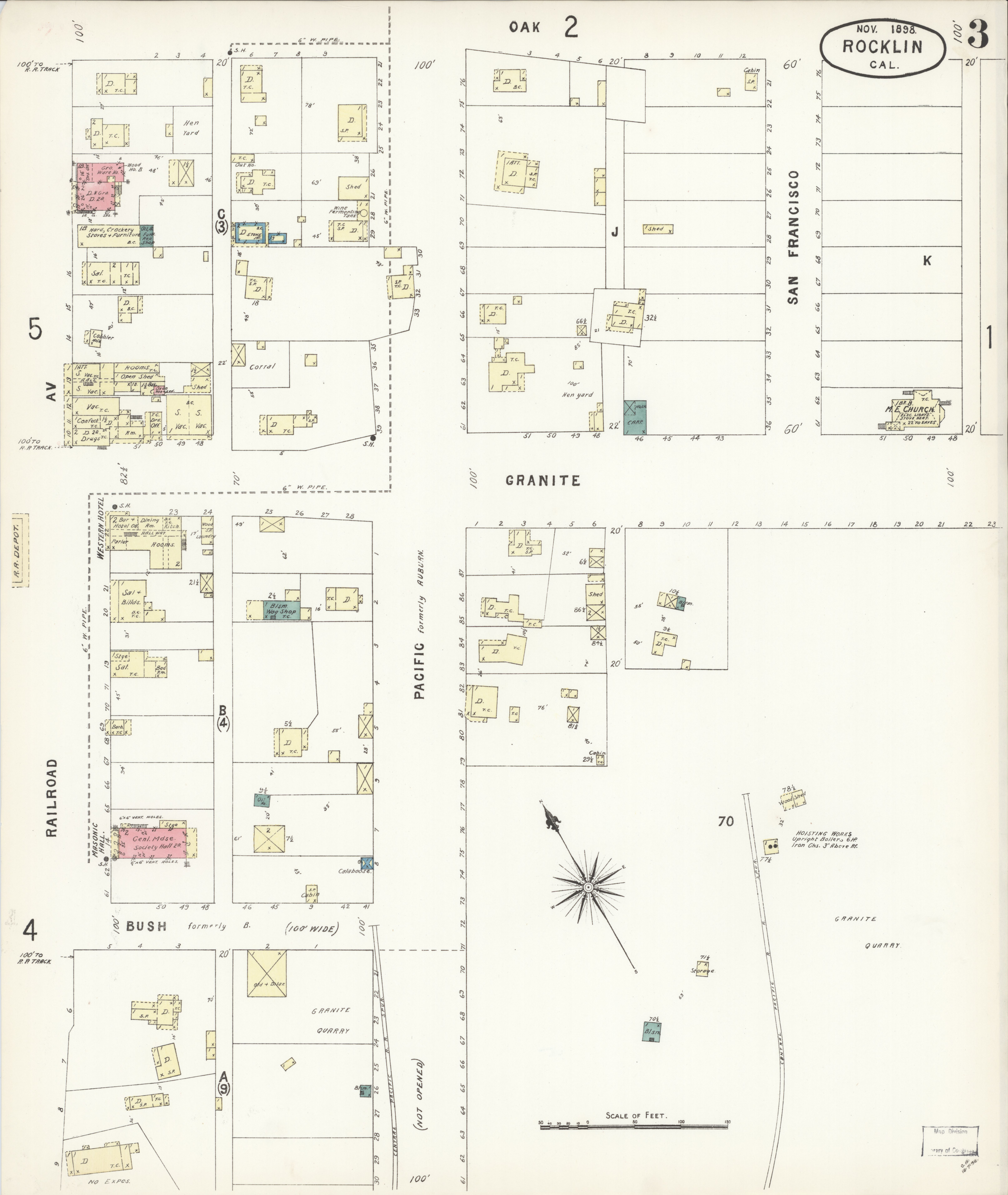 Placer County Fire Map.File Sanborn Fire Insurance Map From Rocklin Placer County