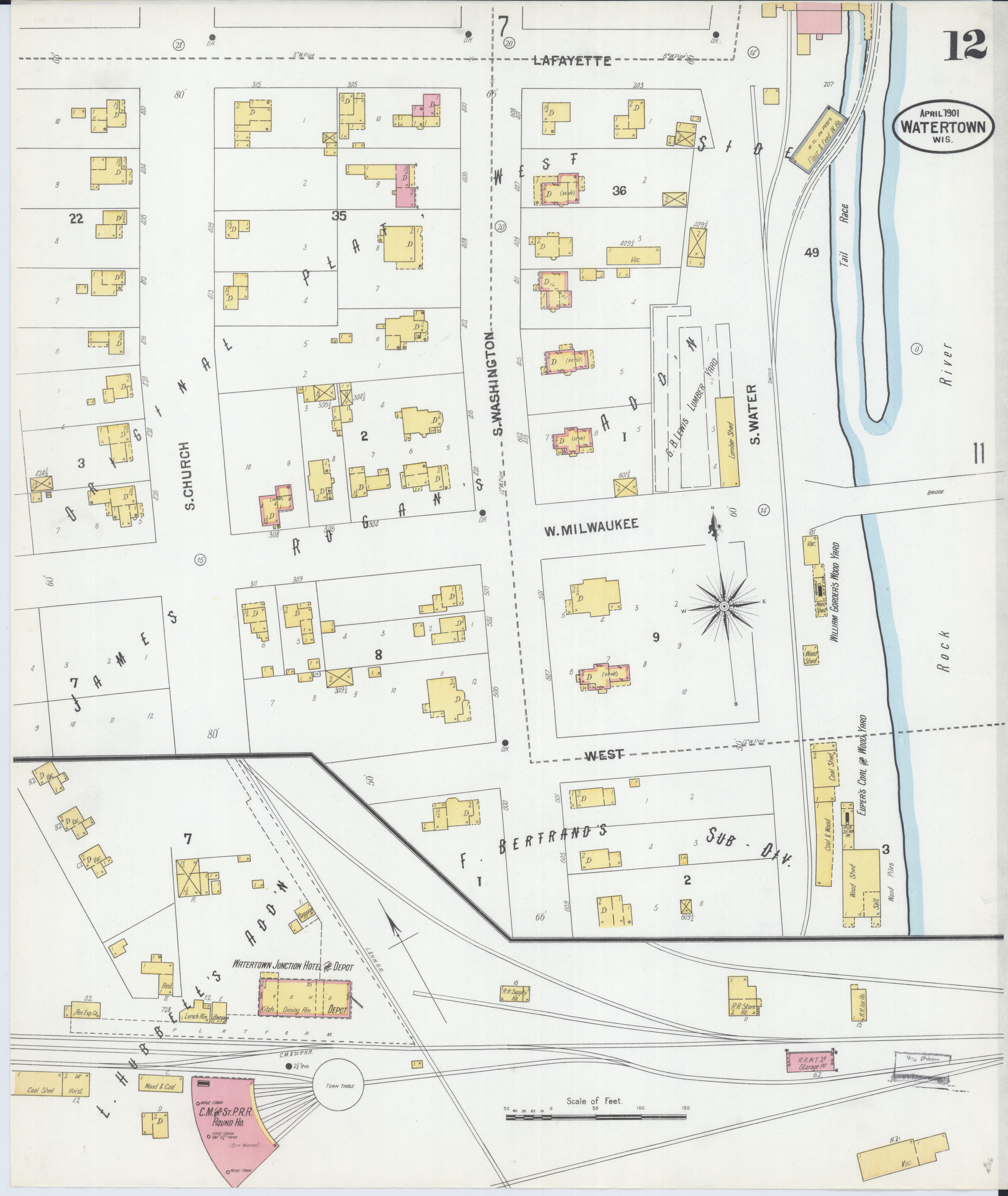 File:Sanborn Fire Insurance Map from Watertown, Jefferson ...