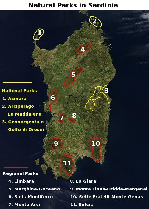 National and regional parks of Sardinia - Sardinia